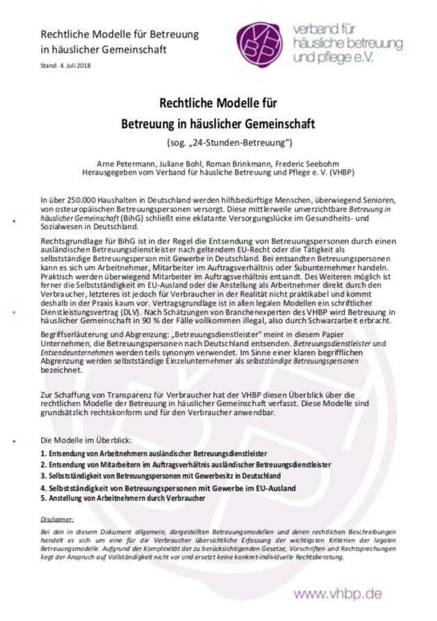 pdf haeusliche gemeinschaft - Rechtliche Modelle